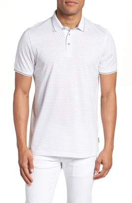 Ted Baker Abot Trim Fit Print Polo