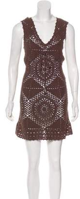 Melissa Odabash Crocheted Mini Dress