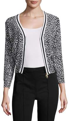 Tracy Reese Women's Tipped Cotton Intarsia Cardigan