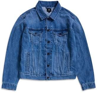 Edwin High Road Kingston Blue Denim, Cotton, 12oz Jacket Light Stone Wash
