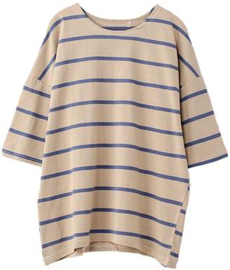 Goodnight Macaroon 'Zoya' Striped Cotton Oversized Top (2 Colors)