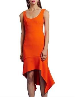 By Johnny Oj Ripple Panel Midi Dress