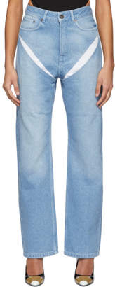 Y/Project Blue Cut Out Jeans