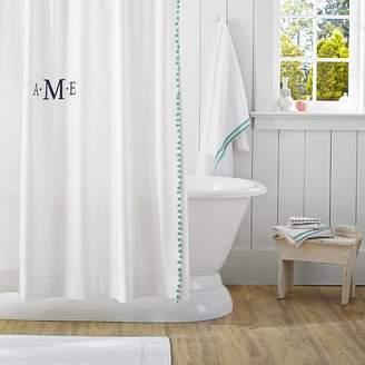 Pottery Barn Teen Pom Shower Curtain Pool