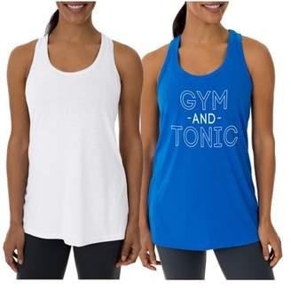 Athletic Works Women's Fitspiration & Core Active Racerback Tank, 2- Pack Value Bundle
