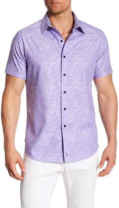 Robert Graham Bell Gardens Short Sleeve Classic Fit Dress Shirt $158 thestylecure.com