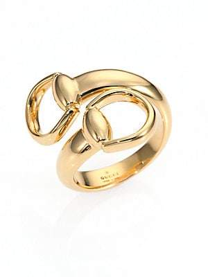 Gucci Women's Horsebit 18K Yellow Gold Ring