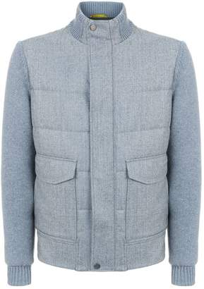 Canali Wool Quilted Bomber Jacket