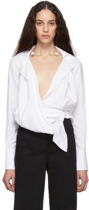 Jacquemus White La Chemise Figari Shirt