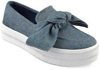 G by Guess Chippy Bow Sneakers $59 thestylecure.com