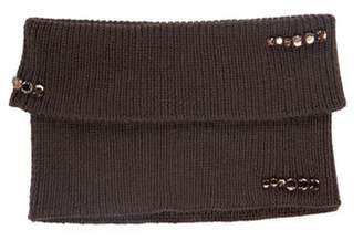 Max Mara Wool Rib Knit Neck Warmer