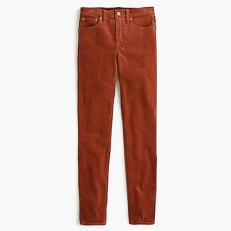 "J.Crew 9"" High-Rise Toothpick Jean In Garment-Dyed Corduroy"