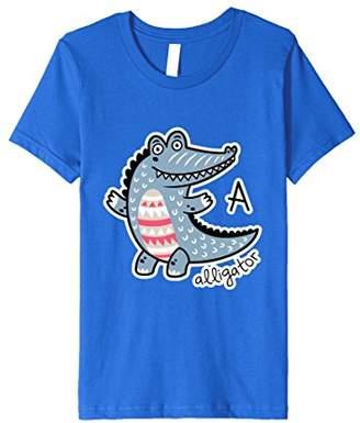 A as in Alligator - Animal Alphabet Premium T-Shirt