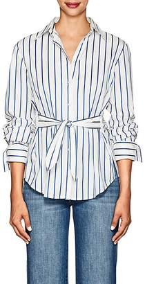 Derek Lam 10 Crosby Women's Striped Self-Tie Cotton Blouse
