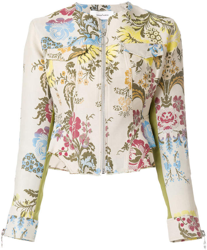 Marques'almeida floral jacquard jacket