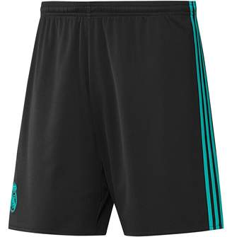 adidas Mens RMCF Real Madrid Away Shorts Black/Aero Reef