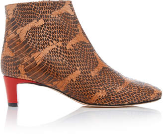 Atelier ATP Clusia Snake-Effect Leather Ankle Boots