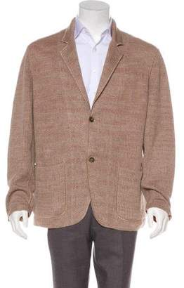 Missoni Knitted Notch-Lapel Cardigan