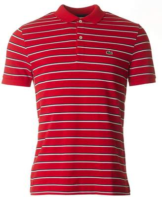Lacoste Short Sleeved Striped Pique Polo