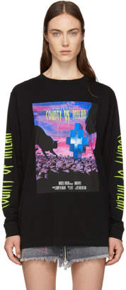 Marcelo Burlon County of Milan Black Sleepwalker T-Shirt