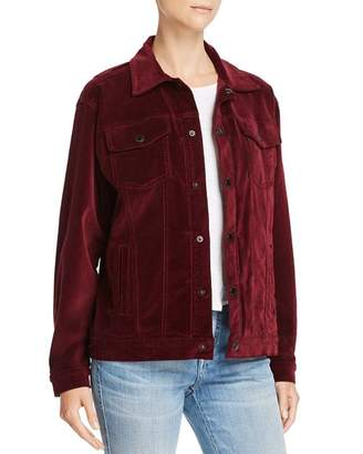 Hudson Port Velour Trucker Jacket