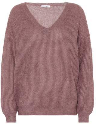 Brunello Cucinelli Metallic mohair-blend sweater