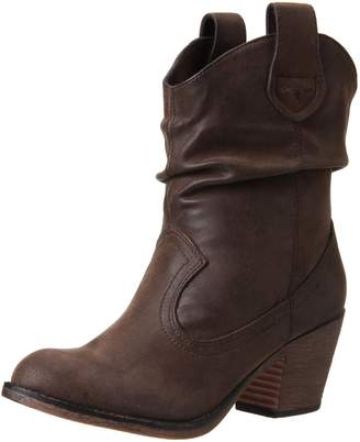 Rocket Dog Women's Sheriff Vintage Worn PU Western Boot