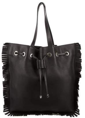 Marni Fringe Leather Tote Black Fringe Leather Tote