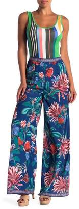 Flying Tomato Patterned Wide Leg Pants