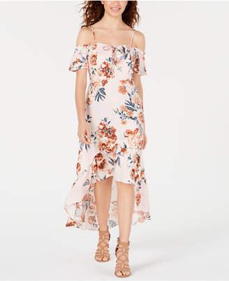 d515e159d American Rag Juniors' Printed Corset Cold-Shoulder Dress