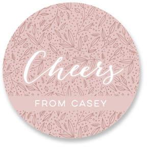 Dusty Pink Christmas Custom Stickers