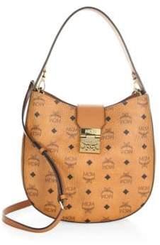 MCM Patricia Coated Canvas Hobo Bag