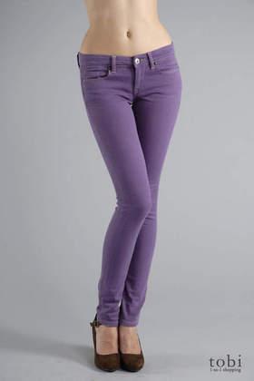 Blank Skinny Classique w/ Stud Jeans in Purple