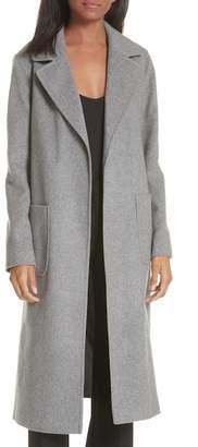 Helene Berman Notch Collar Edge to Edge Wool Blend Coat