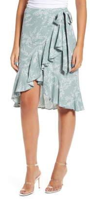ENGLISH FACTORY Ruffle Wrap Skirt