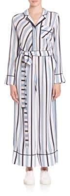 MSGM Striped Silk Jumpsuit