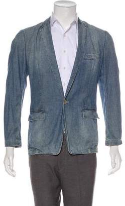 Dolce & Gabbana Denim One-Button Blazer