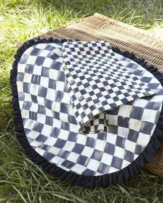 Mackenzie Childs MacKenzie-Childs Courtly Check Round Placemat with Black Ruffle