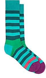 Paul Smith Men's Earl Striped Cotton-Blend Mid-Calf Socks - Blue