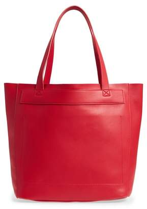 BP Stitched Faux Leather Tote