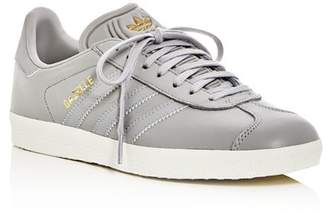 adidas Women's Gazelle Leather Lace Up Sneakers