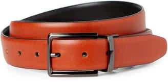Trafalgar Cognac & Black Reversible Leather Belt