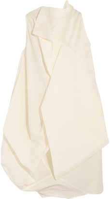 Rick Owens - Egret Open-back Layered Crepe Top - Off-white $1,455 thestylecure.com