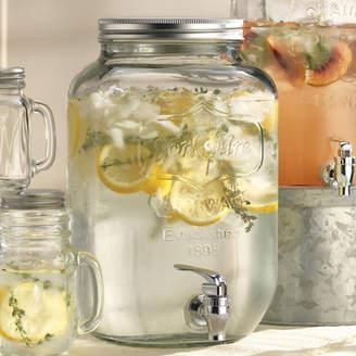 Wine Enthusiast Companies Mason Jar Beverage Dispenser