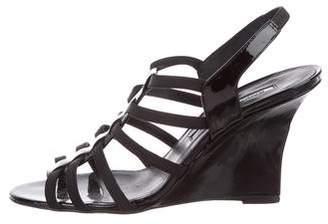 Manolo Blahnik Multistrap Wedge Sandals