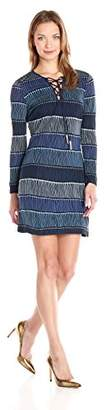 Juicy Couture Black Label Women's Runaway Fringe Lace-Up Jersey Dress $218 thestylecure.com