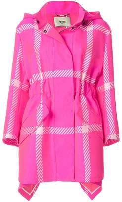 Fendi Pop Tartan raincoat