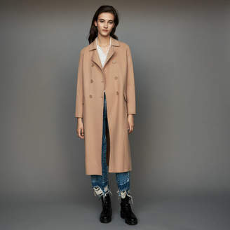 Maje Long double-faced wool coat