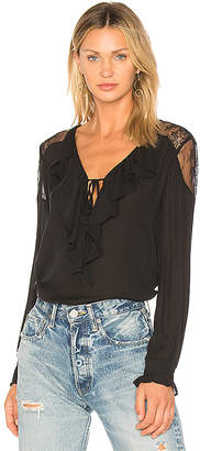 PAIGE Celesse Blouse in Black $248 thestylecure.com