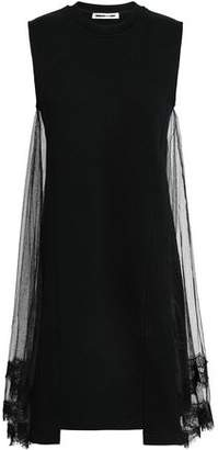 McQ Tulle And Cotton-Jersey Mini Dress